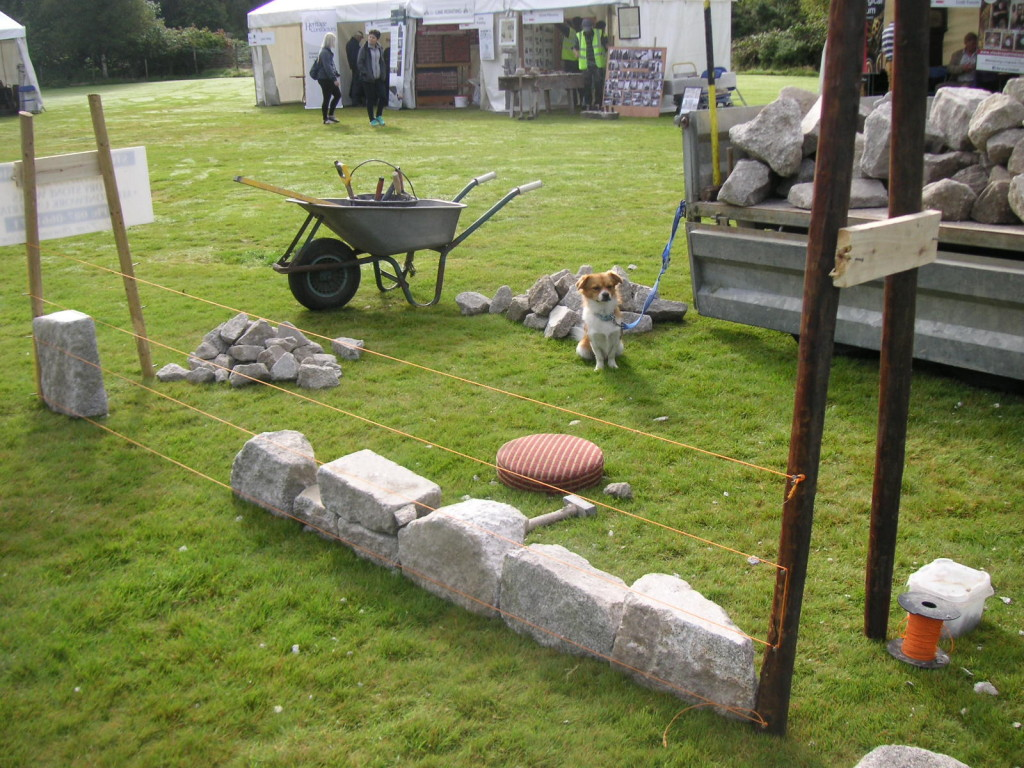 Wicklow's Heritage Buildings Show 2015 - Dry stone Wall Construction