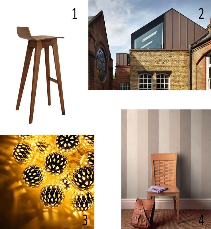 VMZinc, Morph Bar stool, Zeitraum, christmas lights, Moroccan, Superfresco Java Wallpaper, brown zinc