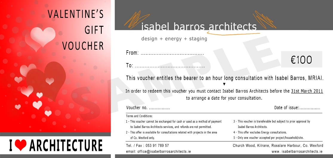 I love architecture gives free valentines gift vouchers isabel iba valentines gift voucher negle Images