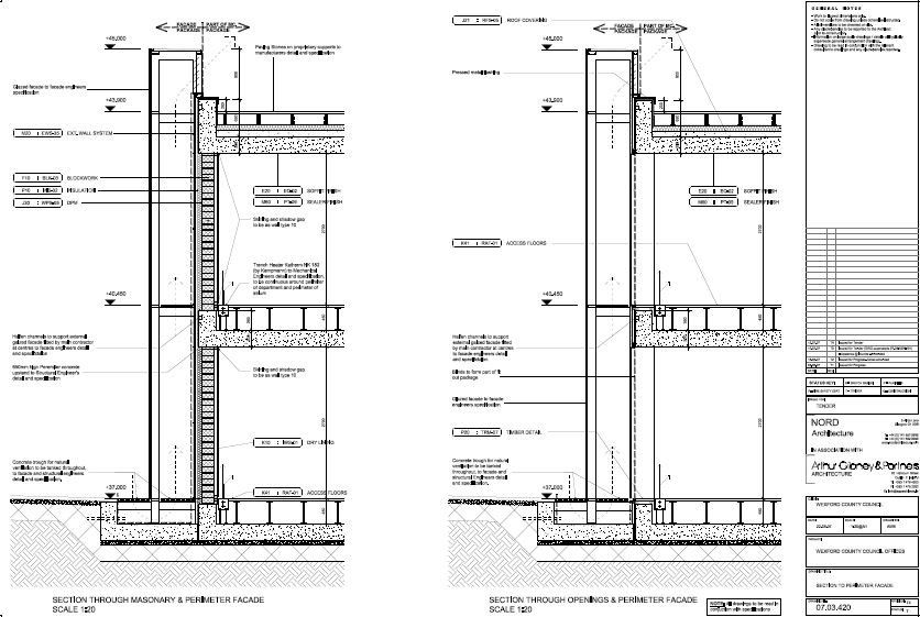 Architectural Facades Drawings Façade – Tender Drawing