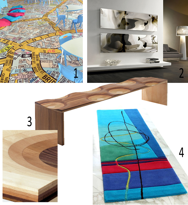 Ceadogan Rugs, hand made rugs ireland, Toyo Ito, Ripples Bench, Floorink, printed floor, Cordivari radiators, blow radiators, designer radiator