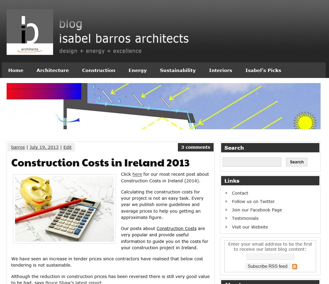 Construction Costs in Ireland 2013