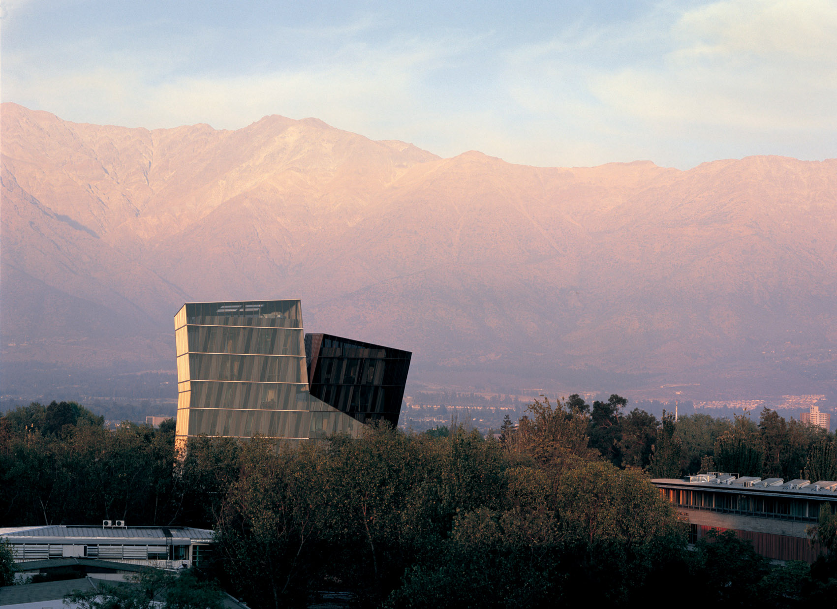 Siamese Towers, 2005, San Joaquín Campus, Universidad Católica de Chile, Santiago, Chile