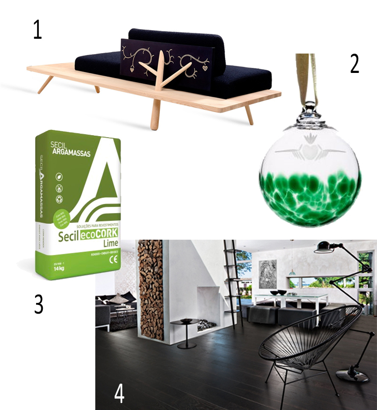 Zanat Branch (Marked) Sofa, makers and brothers, Secil ecoCORK plaster render, Claddagh Bauble The Irish Hand Made Glass Company, , Oak Nouveau Charcoal Kahars, TileStyle