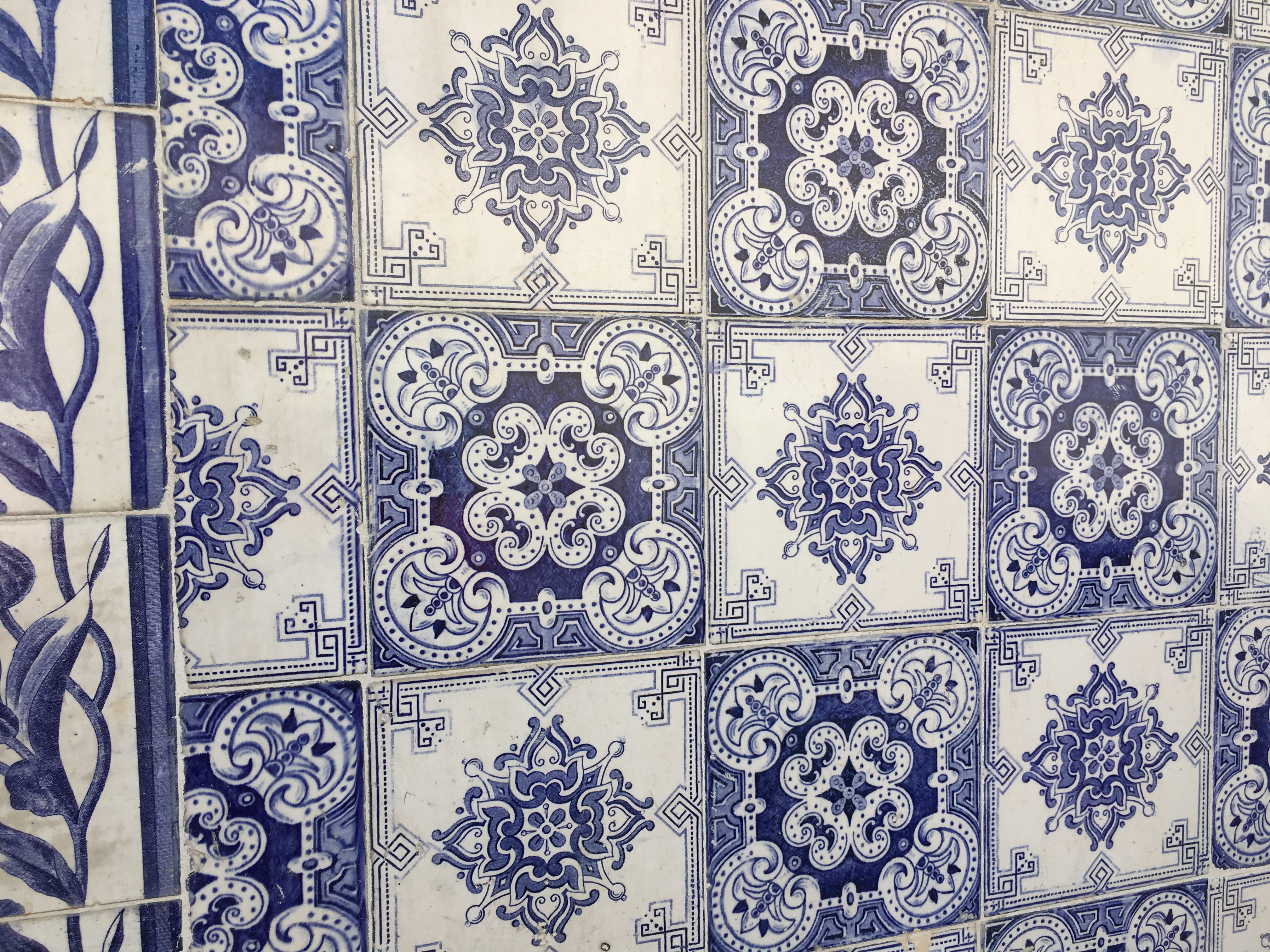 Traditional Portuguese tiles ('azulejos')
