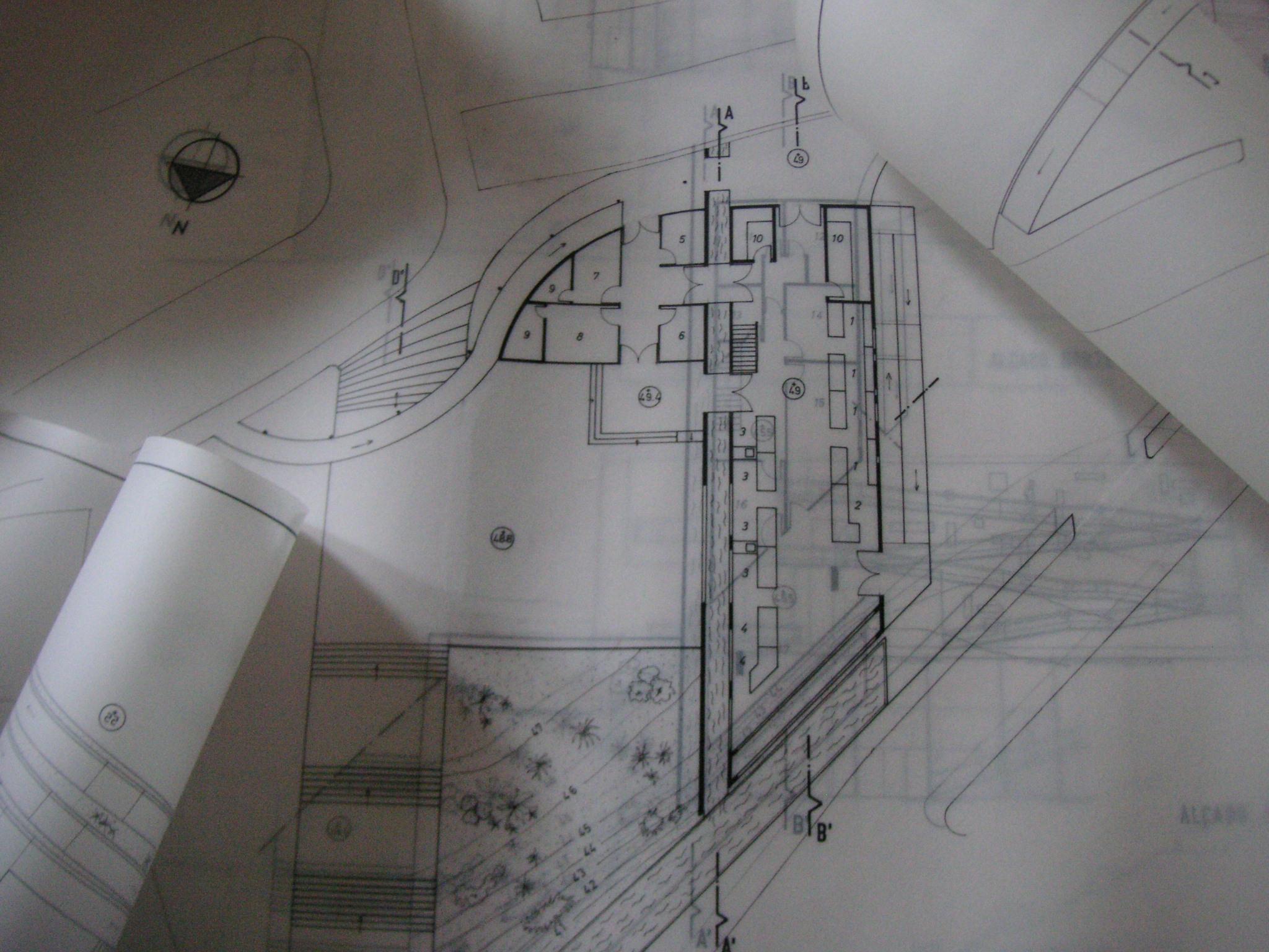Market - Lower Ground Floor Plan, hand drawn. © 2017 Isabel Barros Architects