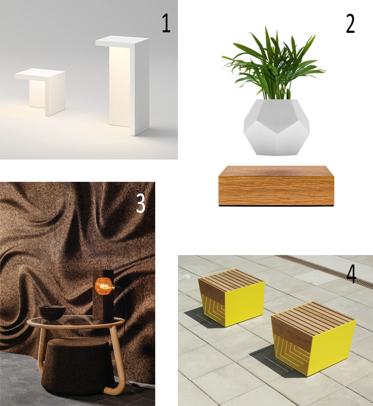 Isabel's Picks for Summer 2020 - Isabel Barros Architects Wexford.OUTDOOR FLOOR LIGHT Vibia Empty, FLOATING PLANT Flyte, WALL PANEL Gencork Insulation Cork Board, OUTDOOR STOOL mmcité Blocq