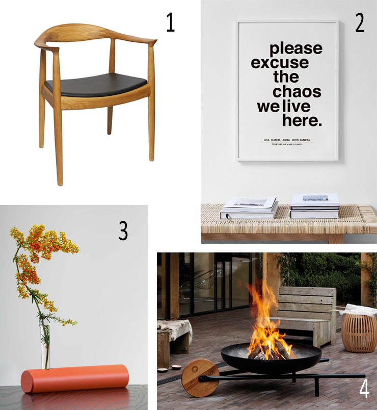 Isabel Picks for Spring 2021 - Wexford Architects, CHAIR, Hans Wegner Kennedy, CA Design, POSTER, Please Excuse the Chaos Personal Poster, Desenio, FLOWER VASE, Coolree Design, SPUN Flower Vase, OUTDOOR FIRE PIT, RSW, Barrow, Konstantin Slawinski